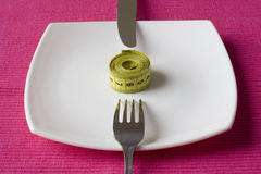 Controle o que você come foto de stock