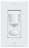 Controle o sensor do interruptor da parede Imagens de Stock Royalty Free