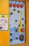 Controle a plataforma do equipamento de construção Foto de Stock Royalty Free