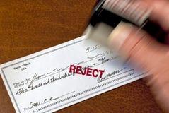Controle se rechaza y se estampa Imágenes de archivo libres de regalías