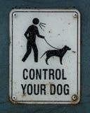Controle seu cão cantam fotografia de stock royalty free
