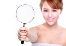 Controle su piel de la salud Foto de archivo libre de regalías