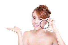 Controle su piel de la salud Imágenes de archivo libres de regalías
