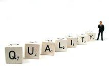 Controle sua qualidade Imagens de Stock