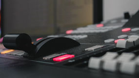 Controle video do misturador imagens de stock