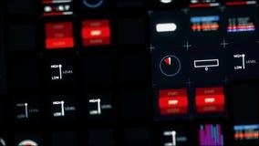 Controlebord en grafisch gebruikersinterface Computertechniek stock video