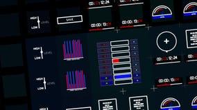Controlebord en grafisch gebruikersinterface Computertechniek stock videobeelden