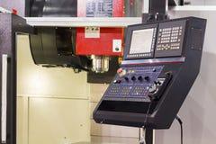 Controlebord van CNC machinaal bewerkend centrum royalty-vrije stock afbeeldingen