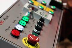 Controlebord van CNC router Stock Foto's