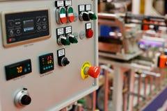 Controlebord van de lamineringsmachine Royalty-vrije Stock Afbeeldingen