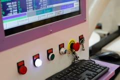 Controlebord van een computergestuurde machine Stock Afbeeldingen