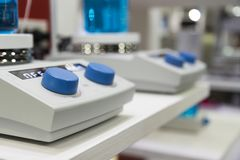 controlebord van magnetische opruier en verwarmer Stock Foto