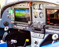 Controlebord van vliegtuig royalty-vrije stock foto's