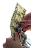 Controleer het geld Royalty-vrije Stock Foto's