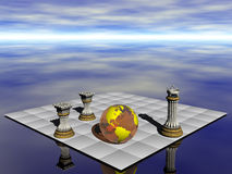 Controleer partner, aarde tegenover verontreiniging. Stock Fotografie