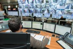 Controlekamer stock foto