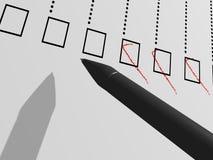 Controlelijst vector illustratie