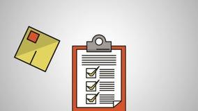 Controlelijst met de dienstanimatie van de dozenlevering stock illustratie