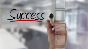 Controlelijst van het zakenman de tikkende succes stock videobeelden