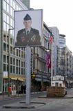 Controlepost Charlie Berlijn stock foto