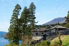 Controlepost van de oude weg Tokaido in Japan royalty-vrije stock foto's