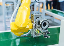 Controler de main robotique photos stock