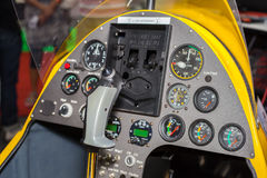 Controler and gauge in helicopter Stock Images
