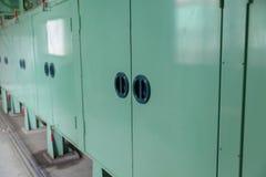Controlerek van de machine in fabriek Stock Afbeelding