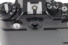 Controles clásicos de la cámara vieja de SLR de la película Foto de archivo