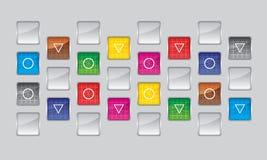 controles coloridos, movimiento en sentido vertical digital Imagen de archivo