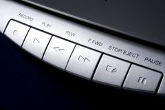 Controles da cassete de banda magnética Imagem de Stock