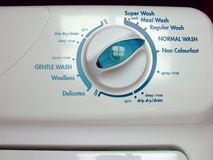 Controles da máquina de lavar foto de stock