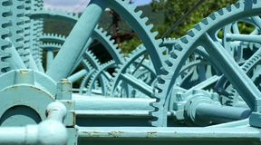 Controles da represa Fotografia de Stock