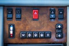 Controles de Aircondition no carro Imagens de Stock Royalty Free