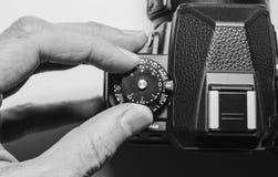 Controles de la cámara digital imagen de archivo libre de regalías