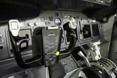 Controles de la cubierta de vuelo Imagen de archivo