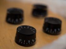 Controles de la guitarra eléctrica Fotografía de archivo libre de regalías