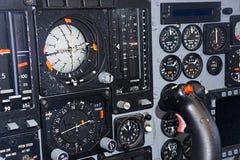 Controles de los aviones de combate del vintage Imagenes de archivo