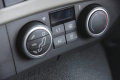 Controles del aire acondicionado del camión Fotografía de archivo