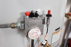 Controles del calentador de agua Foto de archivo libre de regalías