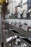 Controles del Firetruck Fotos de archivo libres de regalías