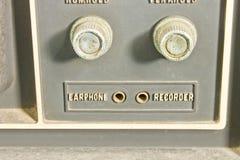 Controles del vintage TV Fotografía de archivo libre de regalías