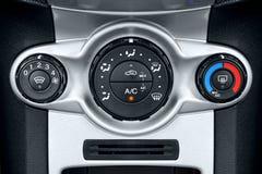 Controles do condicionamento de ar do carro fotos de stock