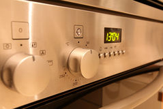 Controles do forno fotos de stock