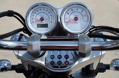 Controles do guiador da motocicleta fotografia de stock
