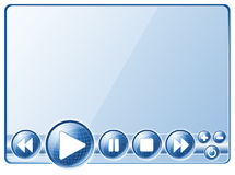Controles do jogador de multimédios ilustração do vetor