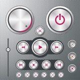 Controles do reprodutor de CDs Imagem de Stock Royalty Free