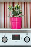 Controles en LCD controles op huishoudapparaten en decoratieve installaties stock afbeeldingen