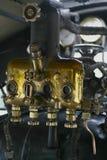 Controles en un tren del vapor Imagen de archivo libre de regalías