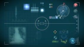 Controles futuristas del panel de control y del scifi ilustración del vector